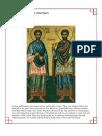 35 - Saints Cosmas and Damian