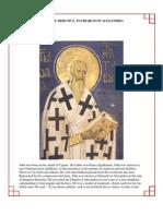 39 - Saint John the Merciful, Patriarch of Alexandria