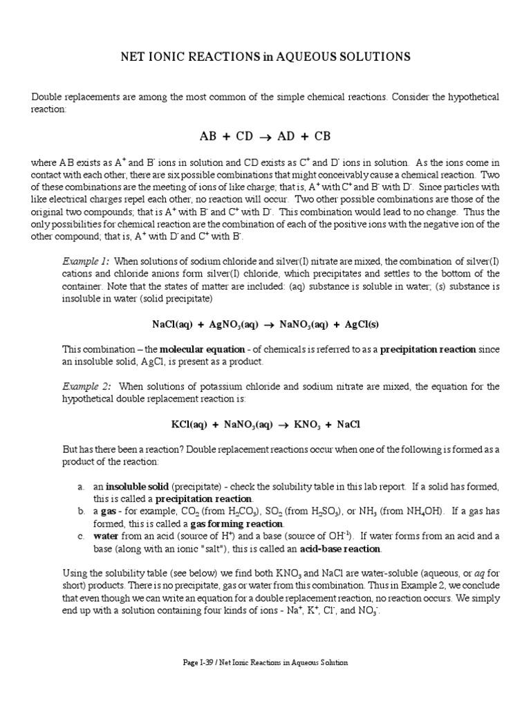 Uncategorized Precipitation Reactions Worksheet kno3 precipitation chemistry ion