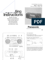 Panasonic RCX210 En