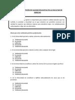 Encuesta Percepción de Calidad Educativa en La Facultad de Derecho1