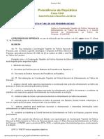 Decreto Nº 7901 Institui a Coordenação Tripartite Da Política Nacional de Enfrentamento Ao Tráfico de Pessoas e o Comitê Nacional de Enfrentamento Ao Tráfico de Pessoas - CONATRAP