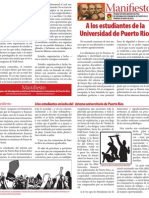 Manifiesto Huelga UPR