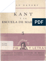 05 P Natorp Kant Escuela Marburgo 1956