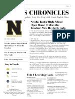 8th grade newsletter