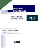 AAcuerdos Comerciales de Perú, Chile, Colombia y Mexico