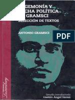 Hegemonía y Lucha Política en Gramsci - Selección de Textos