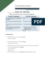 Basic Writing Skills and Rules