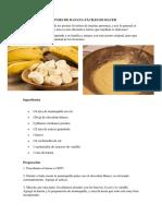 Brownies de Banana Fáciles de Hacer