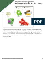 Remedios Naturales Para Regular Las Hormonas - Barcelona Alternativa