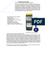 Gaussímetro PCE