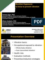 Whole-body Vibrations Exposure - Dr. Tammy Eger - CROSH