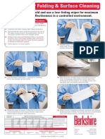 Cleanroom Wiper Folding and Surface Cleaning Poster
