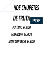 Se Vende Chupetes de Fruta