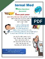 Answers of Written Previous Internal Medicine Exams (2002-2012)