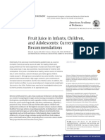 Fruit Juice in Infants, Children, And Adolescents- Current Recommendations