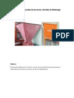 Cálculo de Capacidad de Las Tolvas Del Taller de Metalurgia