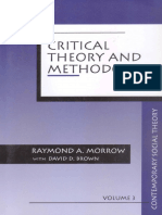 Critical Theory and Methodology - Raymond Morrow