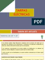Tarifas Eléctricas BT1 BT2 BT3