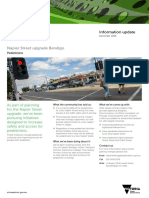 Napier St upgrade information sheet