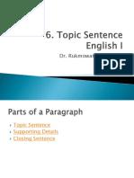 6. Topic Sentence
