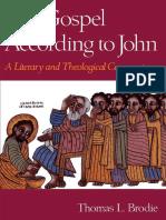 The Gospel According to John - Thomas Brodie