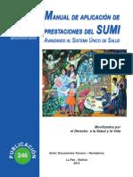 Manual de Aplicación de Prestaciones Del Sumi Avanzando Al Sistema Único de Salud