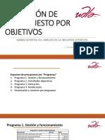 3.7 - Aplicación de presupuesto por objetivos