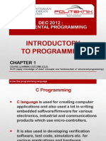 DEC2012 Chap 1 - Introductory to Programming