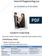 Lecture-Countif Sumif