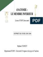 l2s3 Support Articulation Coxo Femorale
