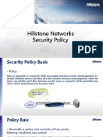 Security Policy Hillstone