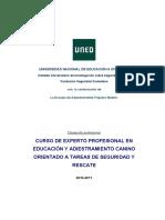 CURSO DE EXPERTO PROFESIONAL EN EDUCACIÓN Y ADIESTRAMIENTO CANINO ORIENTADO A TAREAS DE SEGURIDAD Y RESCATE