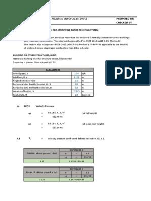 Wind Calculation Method 2 2015   Pressure   Metro Manila