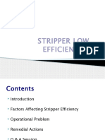 Stripper Low Efficiency