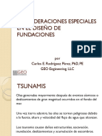 Consideraciones especiales en el diseño de Fundaciones