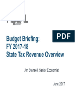 FY 2017-2018 State Tax Revenue