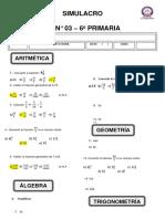 SEP 3 -  6 prim