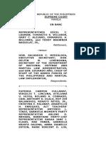 Memorandum on the Martial Law Petitions