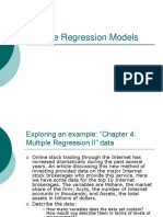 Ch 4 Multiple Regression Models