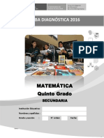Prueba Diagnóstica Del Área de Matemática_ 5