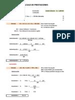 Cálculo de Prestaciones - Ejemplo KM