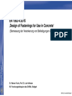 Dr.-ing. Werner Fuchs EN1992-4 Design of Fastenings for Use in Concrete