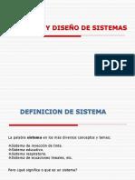 Sistemas y Diseño de Sistemas
