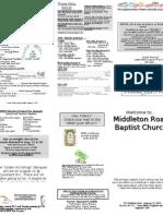 Church Bulletin August 1, 2010