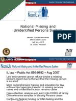 NAMUS - Why It Matters To Illinois