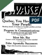 (1947) Awake!  (Watchtower Bible & Tract Society)