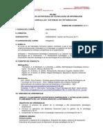 SÍLABO PLANEAMIENTO ESTRATÉGICO DE TECNOLOGÍAS DE INFORMACIÓN
