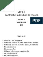 CURS II CIM