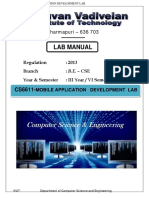 Cs6611 Mobile Application Development Laboratory